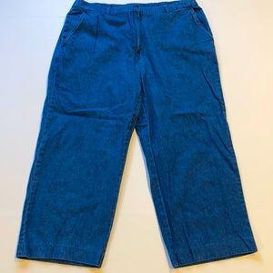 Kim Rogers SZ 10 Capri Denim Blue Jeans D18